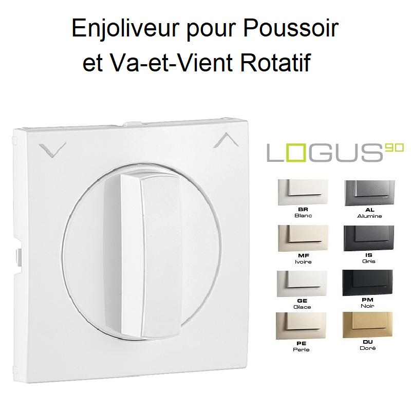 Enjoliveur Poussoir et Va-et-Vient Rotatif - LOGUS 90