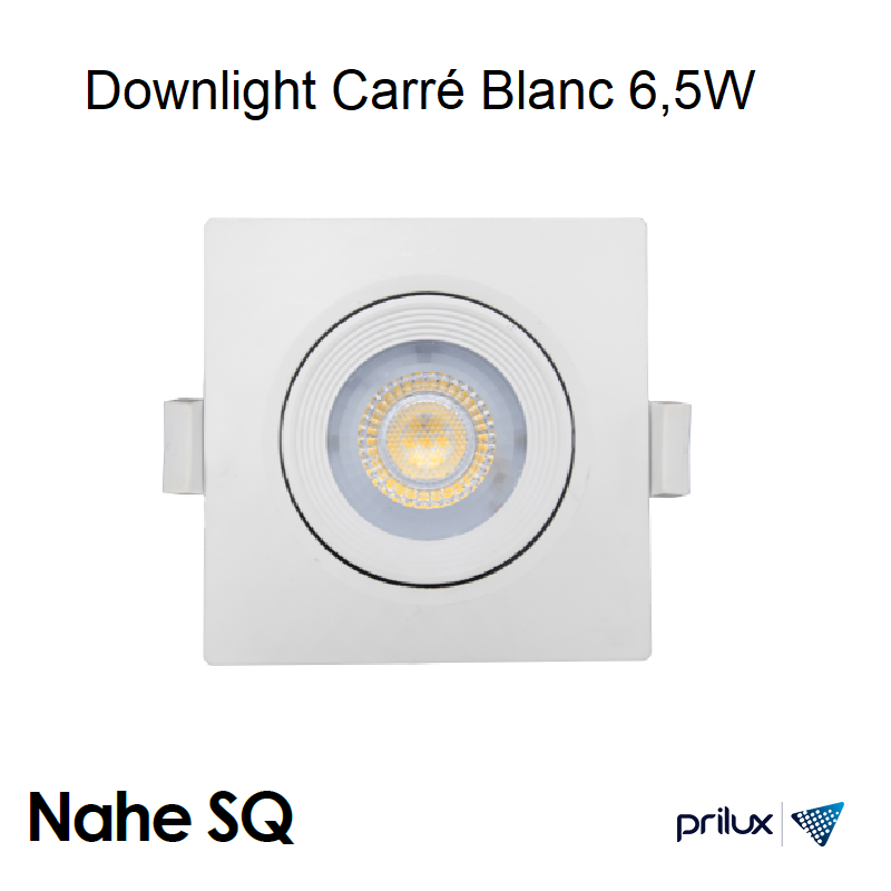 Spot LED Carré Blanc encastrable NAHE SQ - 6,5W - 3000 kelvin