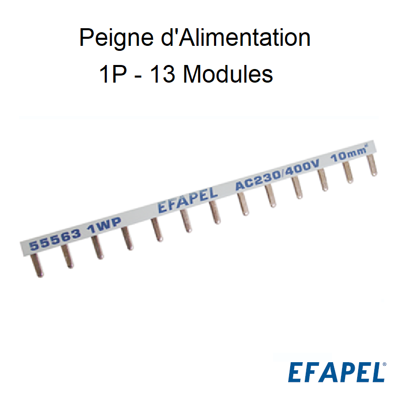 Peigne d\'Alimentation Plan - 1P - 13 Modules