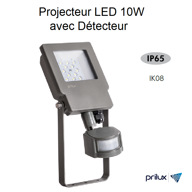 Projecteur LED Energy TECH Sensor 10W à détection automatique