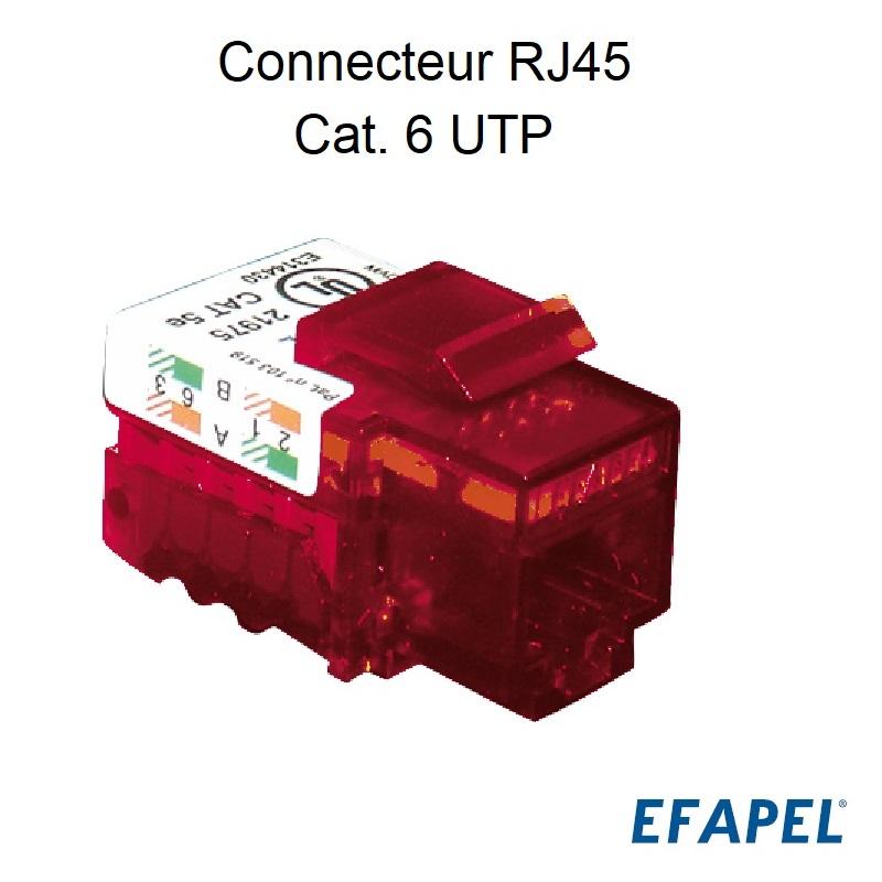 Connecteur RJ45 Cat. 6 UTP (250MHz)