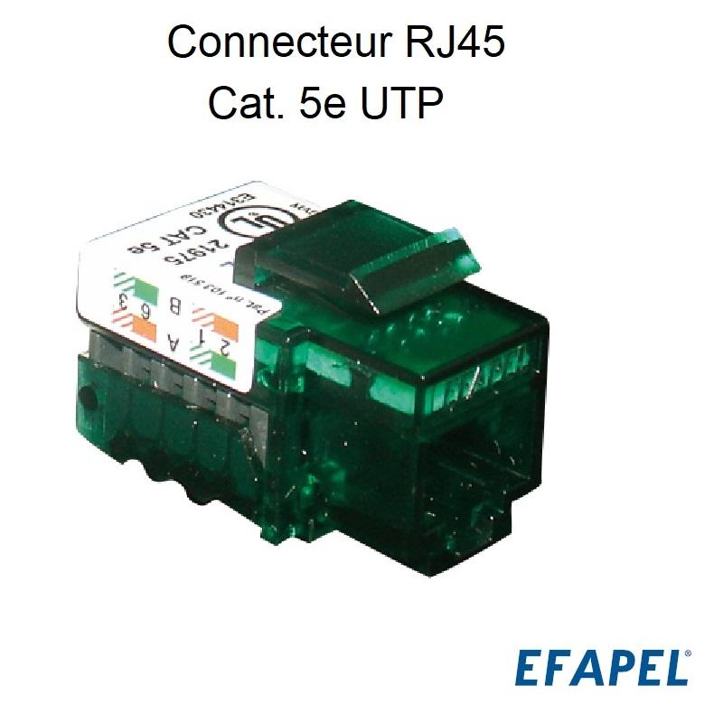 Connecteur RJ45 Cat. 5e UTP (100 MHz)