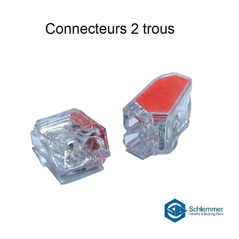 Lot de 10 Bornes de connexion automatique Mini 2 trous