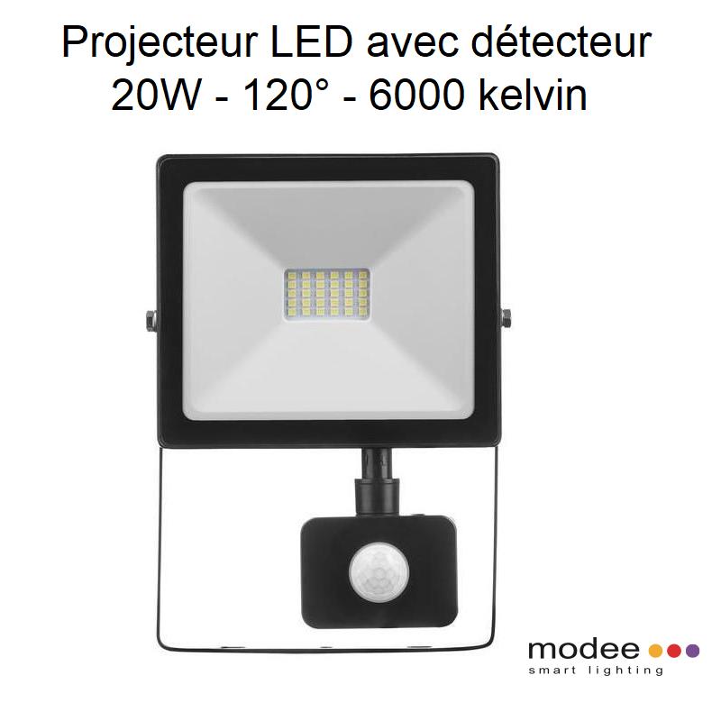 Projecteur LED Réflector avec Sensor - 20W - 6000 kelvin