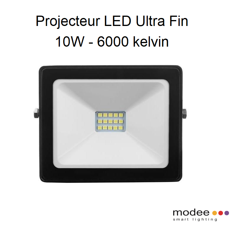 Projecteur LED Ultra Fin 10W - 6000 kelvin