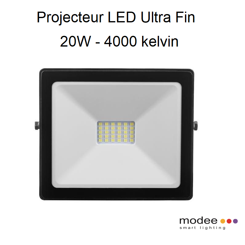 Projecteur LED Ultra Fin 20W - 4000 kelvin