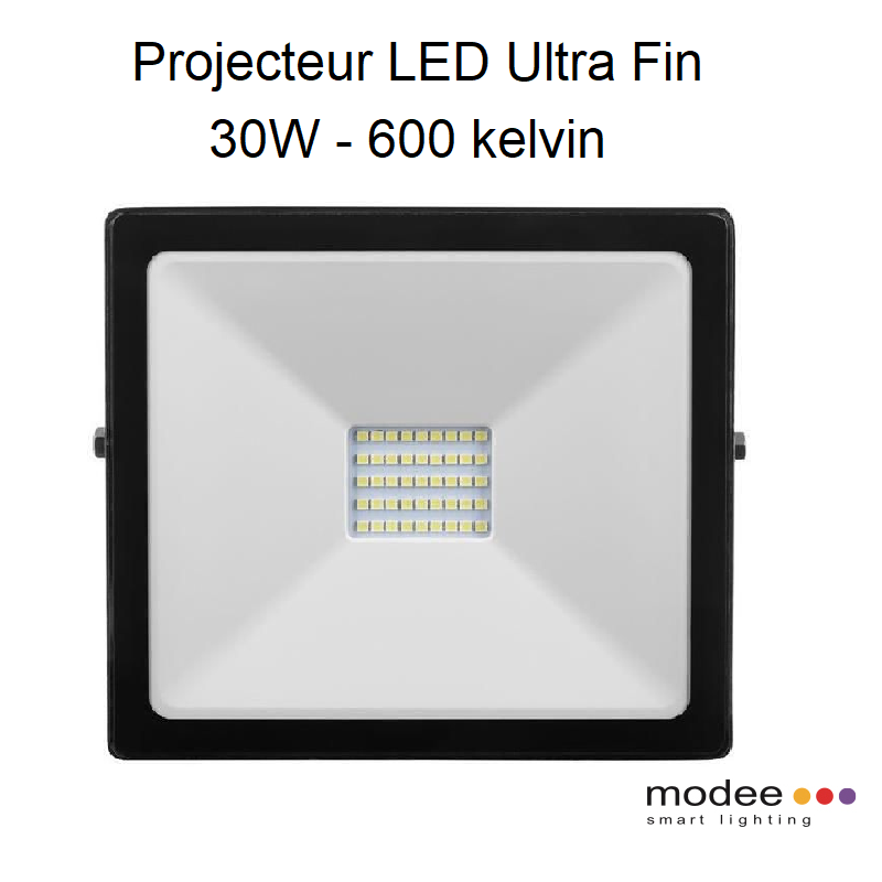 Projecteur LED Ultra Fin 30W - 6000 kelvin