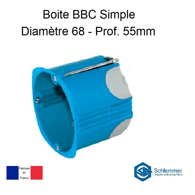Boite d\'encastrement BBC Simple - Profondeur 55mm
