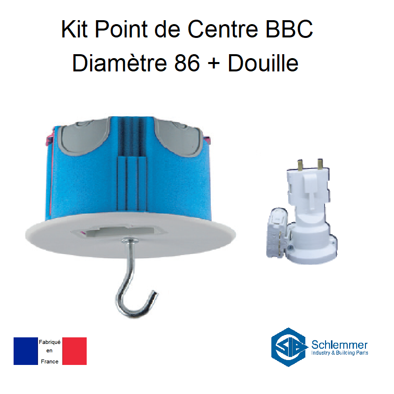 Kit Point de Centre BBC Diamètre 86 + Douille E27