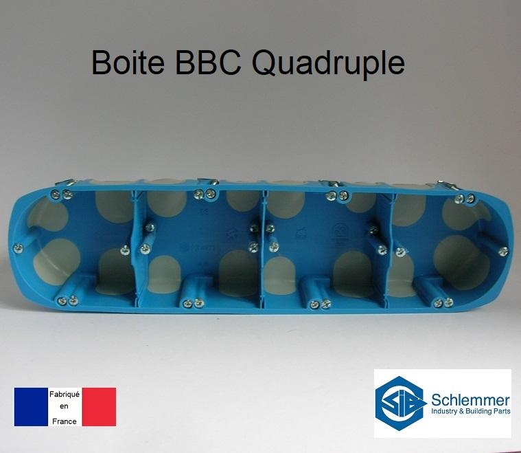 Boite d\'encastrement BBC Quadruple - 4 postes