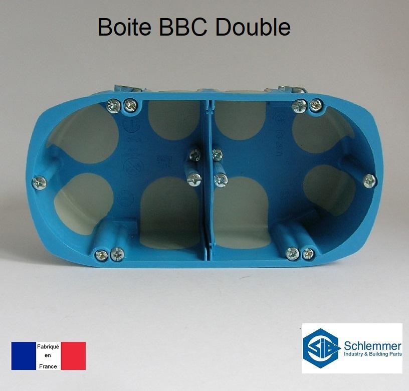 Boite d\'encastrement BBC Double - 2 postes