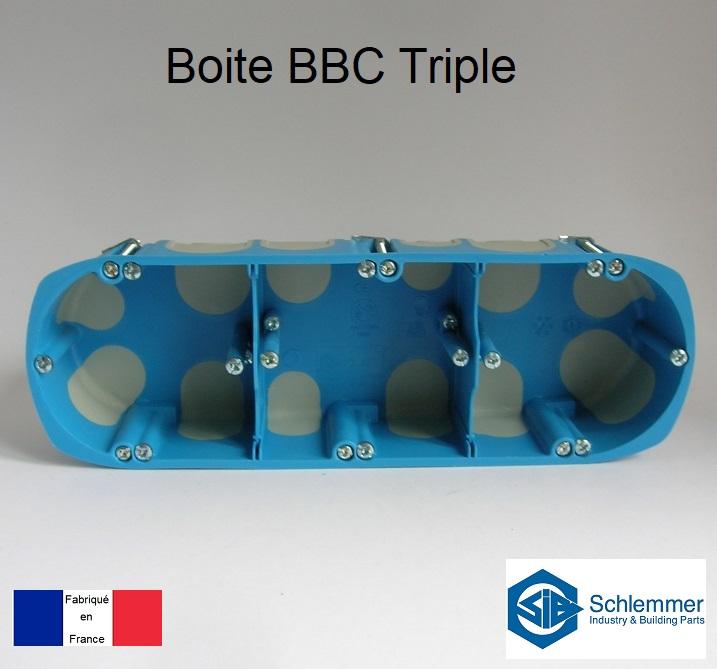 Boite d\'encastrement BBC Triple - 3 postes