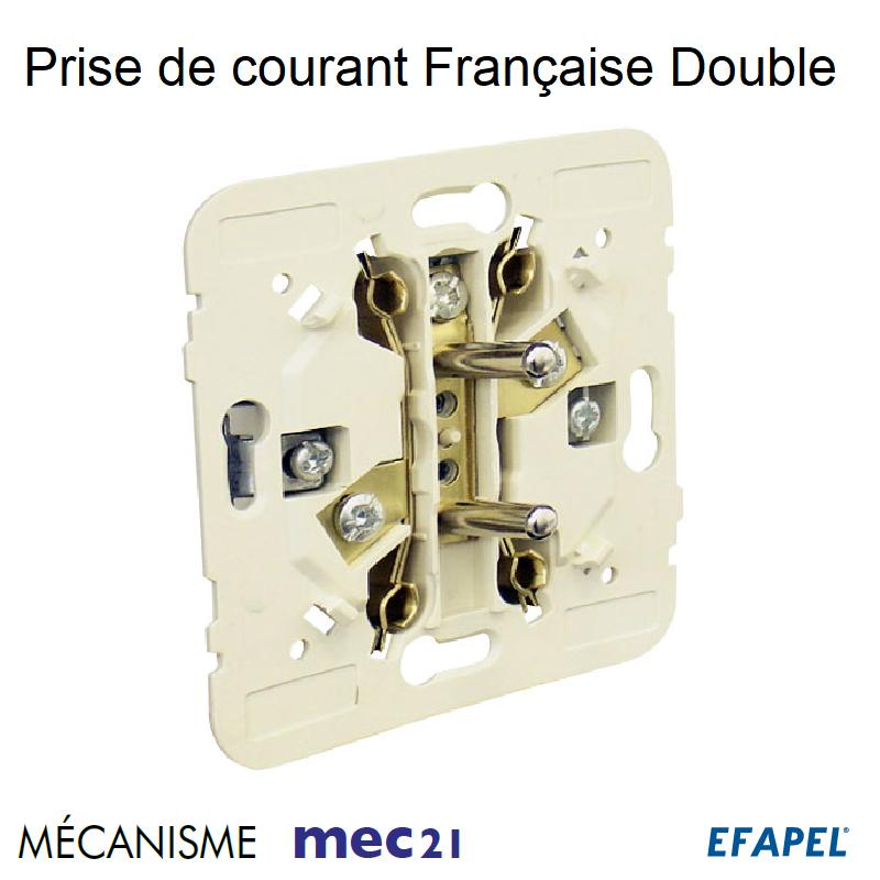 Mécanisme Double de Prise de courant Française