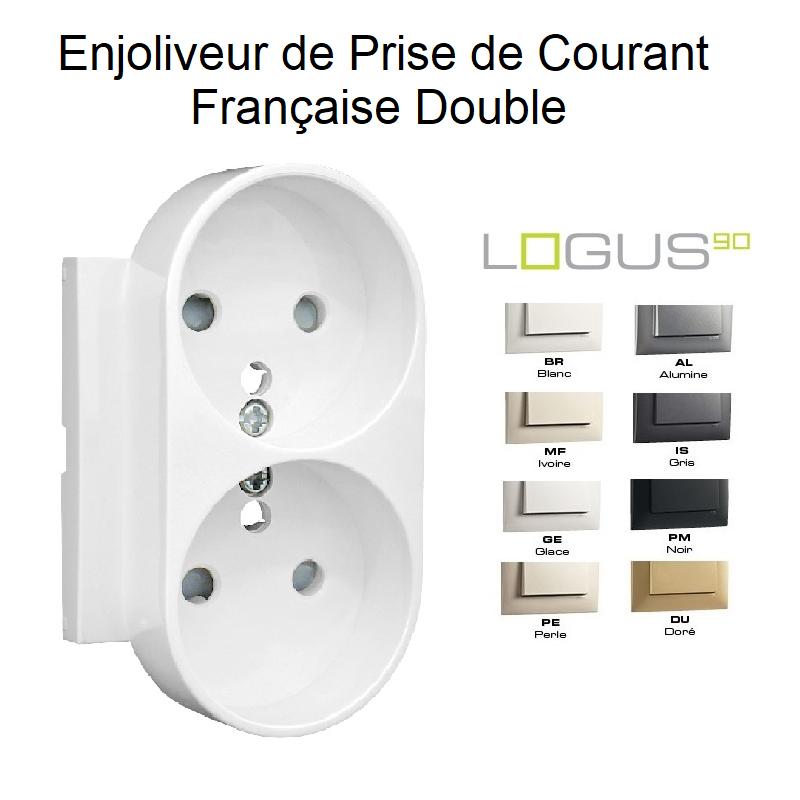 Enjoliveur Prise de Courant Française Double - LOGUS 90