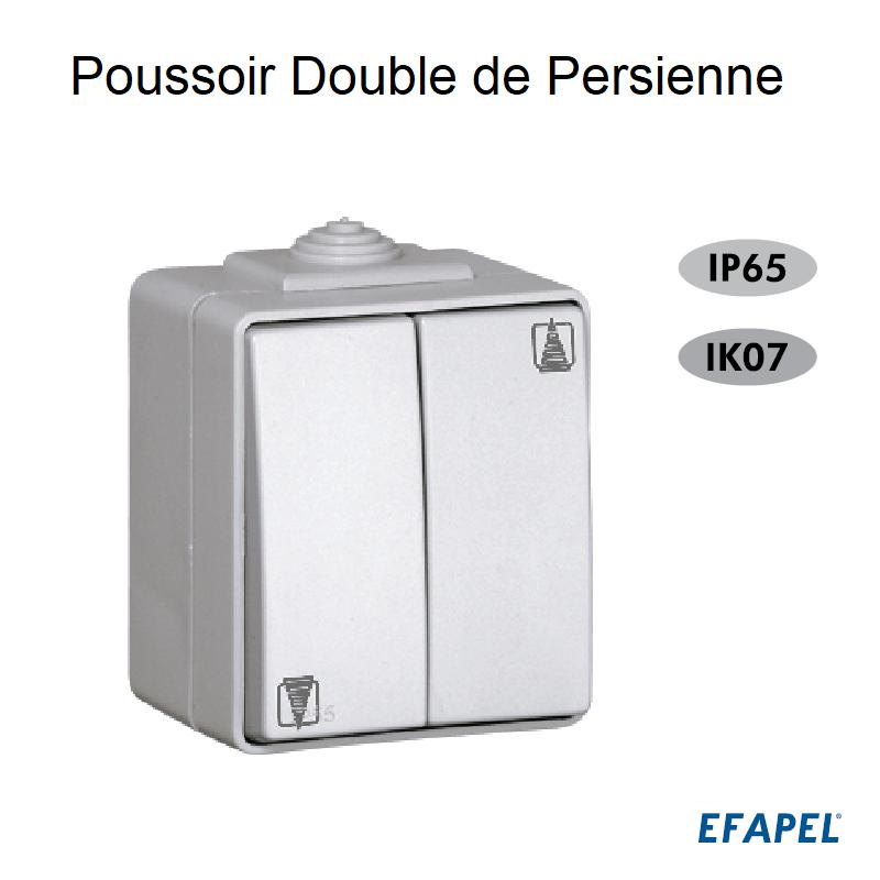 Poussoir Double de Persienne IP65