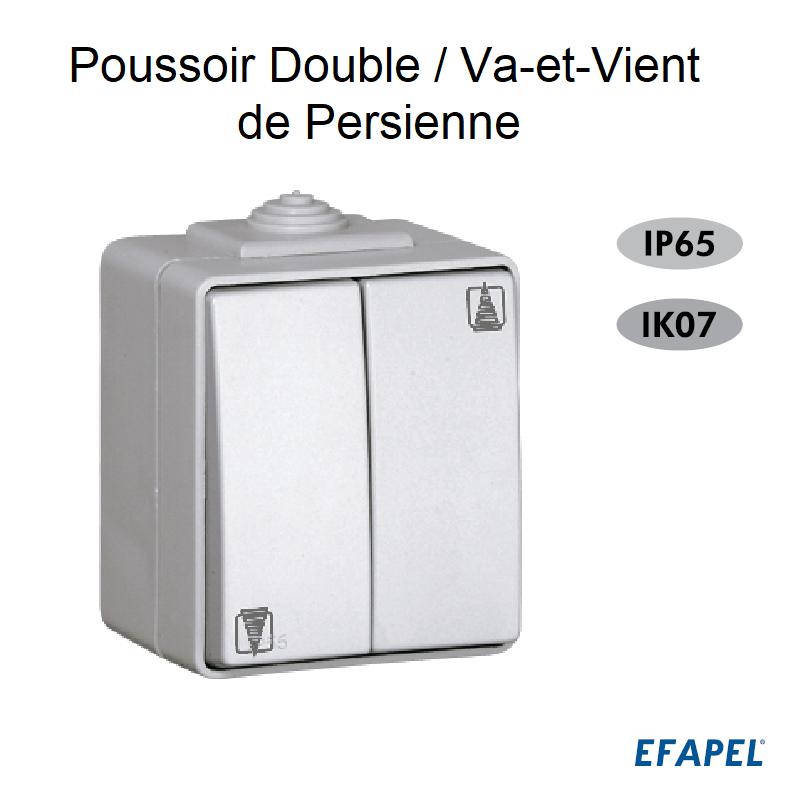 Poussoir Double / Va-et-vient de Persienne IP65