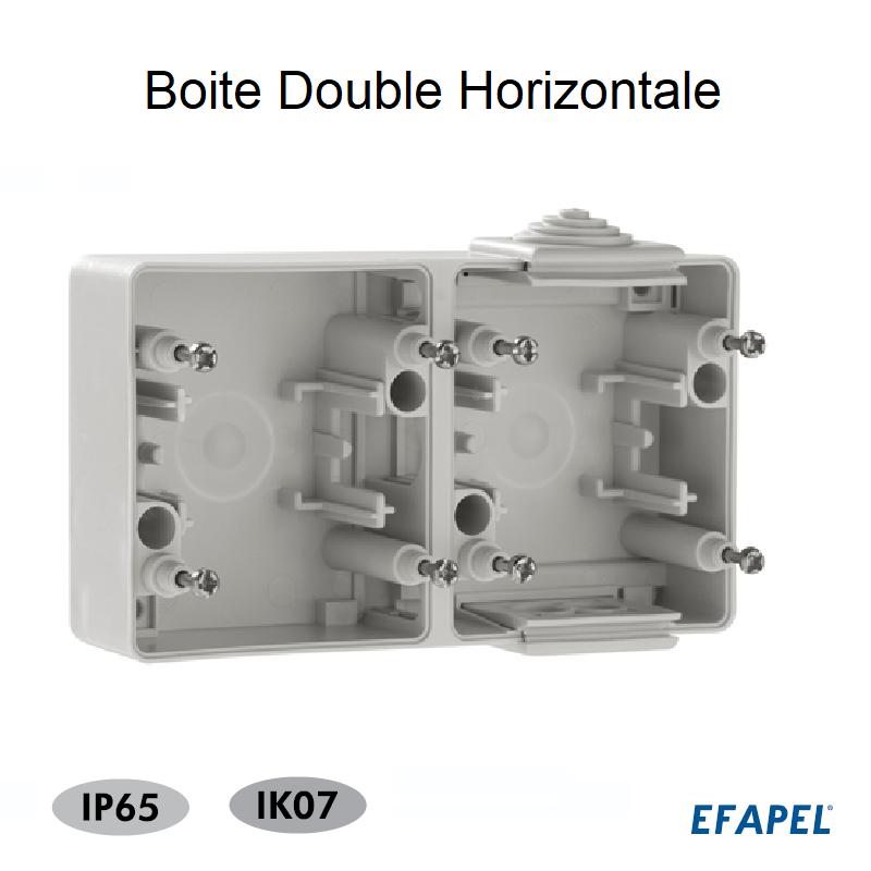 Boite Double Horizontale - Série Etanche 48