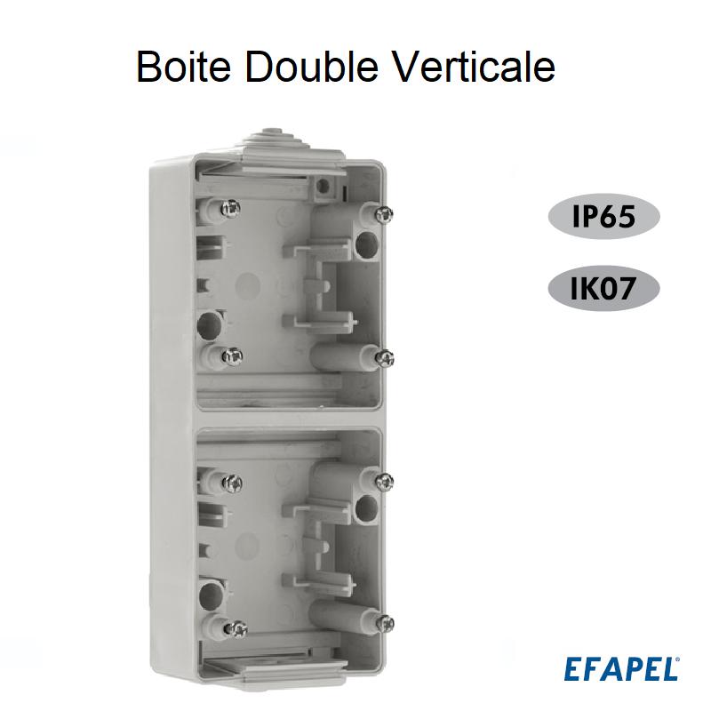 Boite Double Verticale - Série Etanche 48