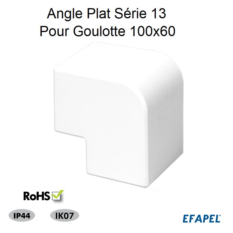 Angle Plat pour Goulotte Série 13 - 100 x 60