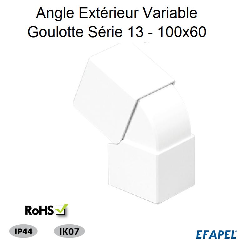 Angle Extérieur Variable Série 13 - 100 x 60