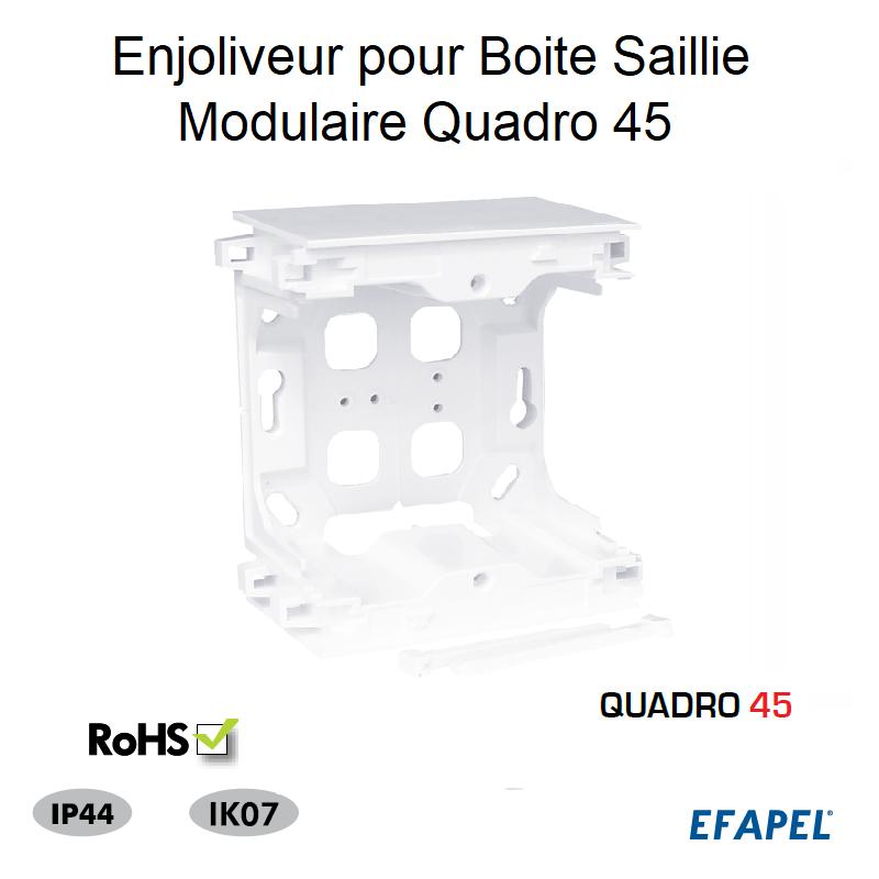 Enjoliveur pour Boite Saillie Modulaire Quadro 45