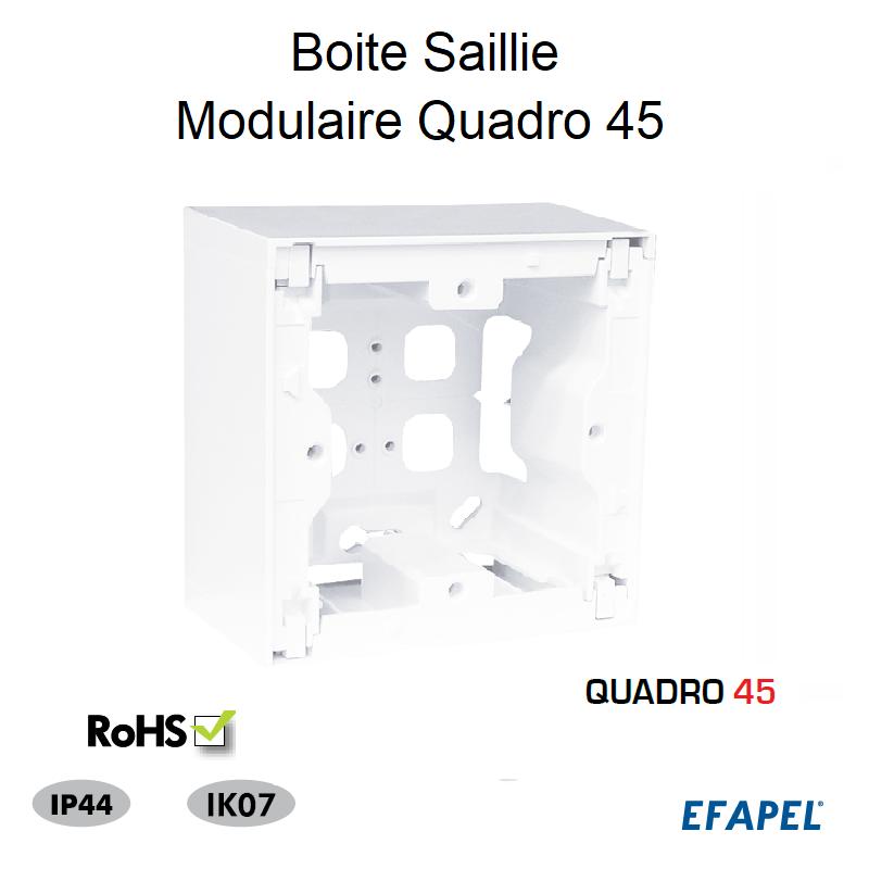 Boite Saillie Modulaire Quadro 45
