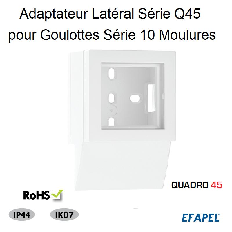 Adaptateur Latéral Série Q45 pour Goulotte