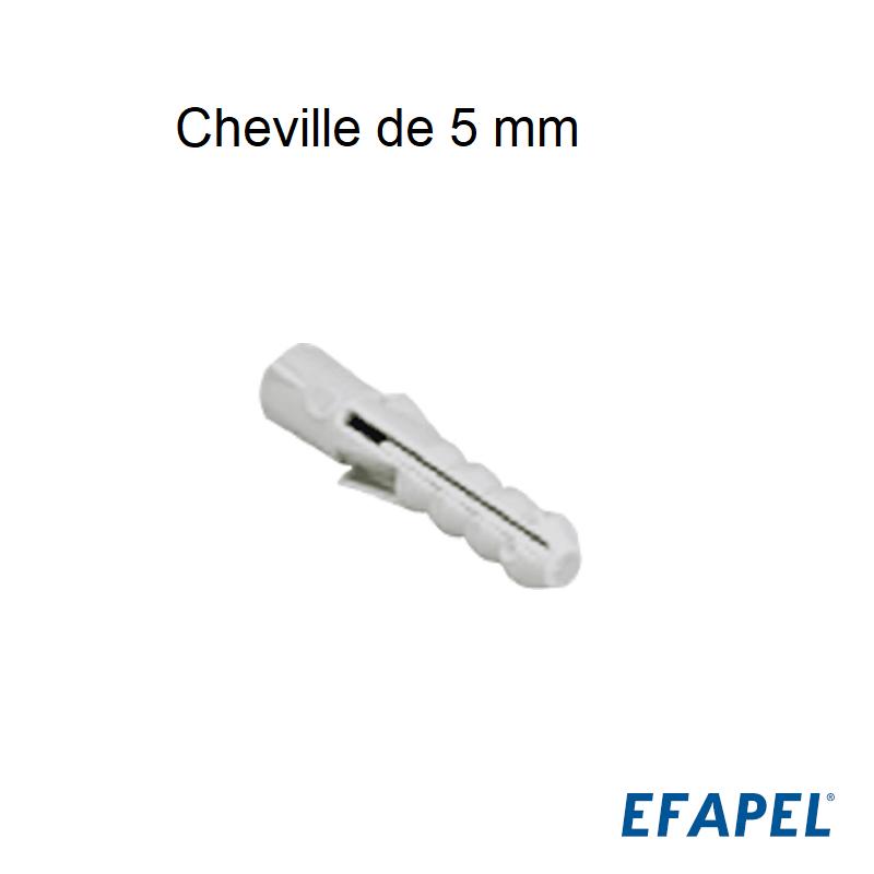 Cheville de 5mm - Boite de 100