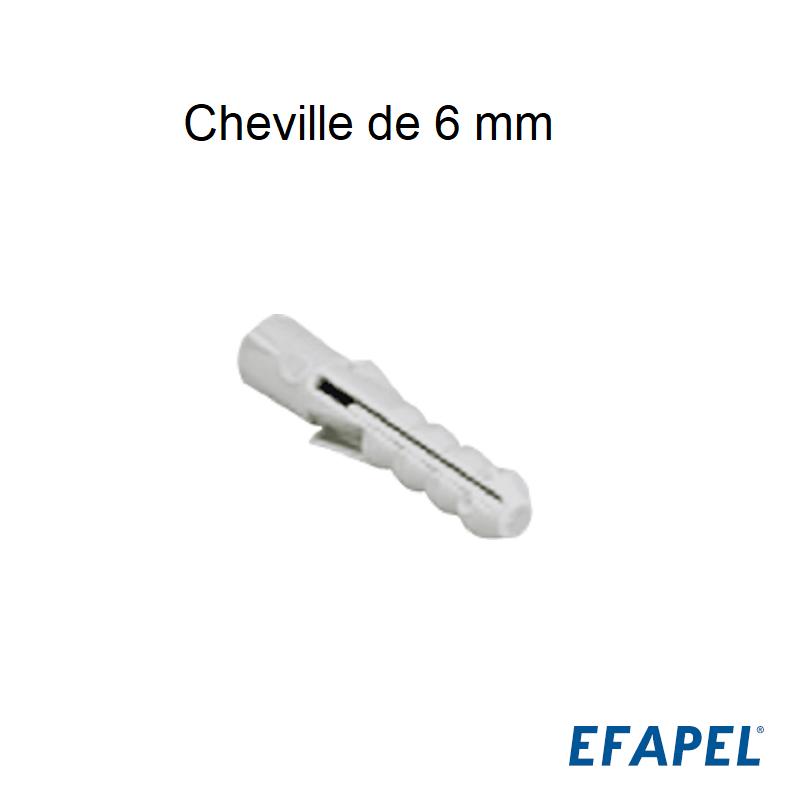 Cheville de 6 mm - Boite de 100