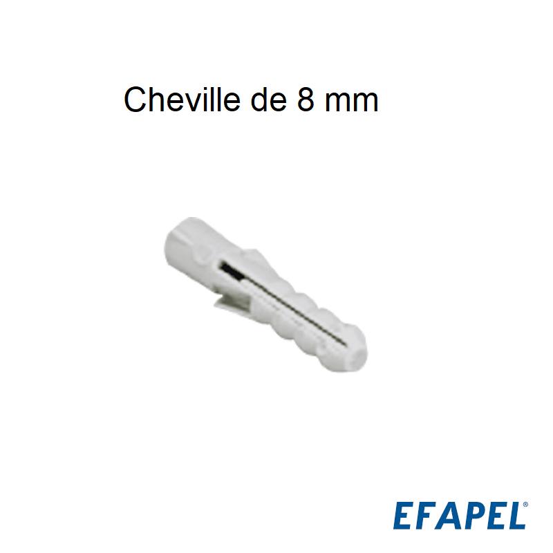 Cheville de 8 mm - Boite de 100