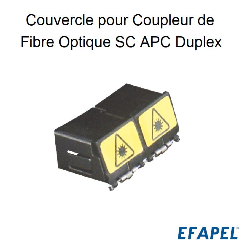 Couvercle pour Coupleur de Fibre Optique SC APC Duplex