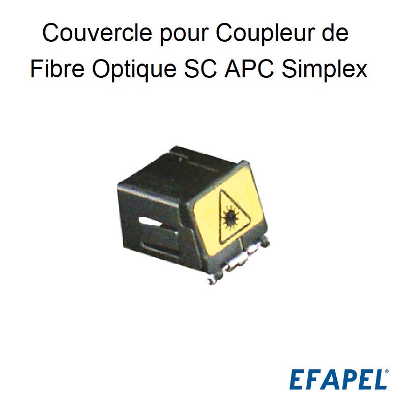 Couvercle pour Coupleur de Fibre Optique SC APC Simplex