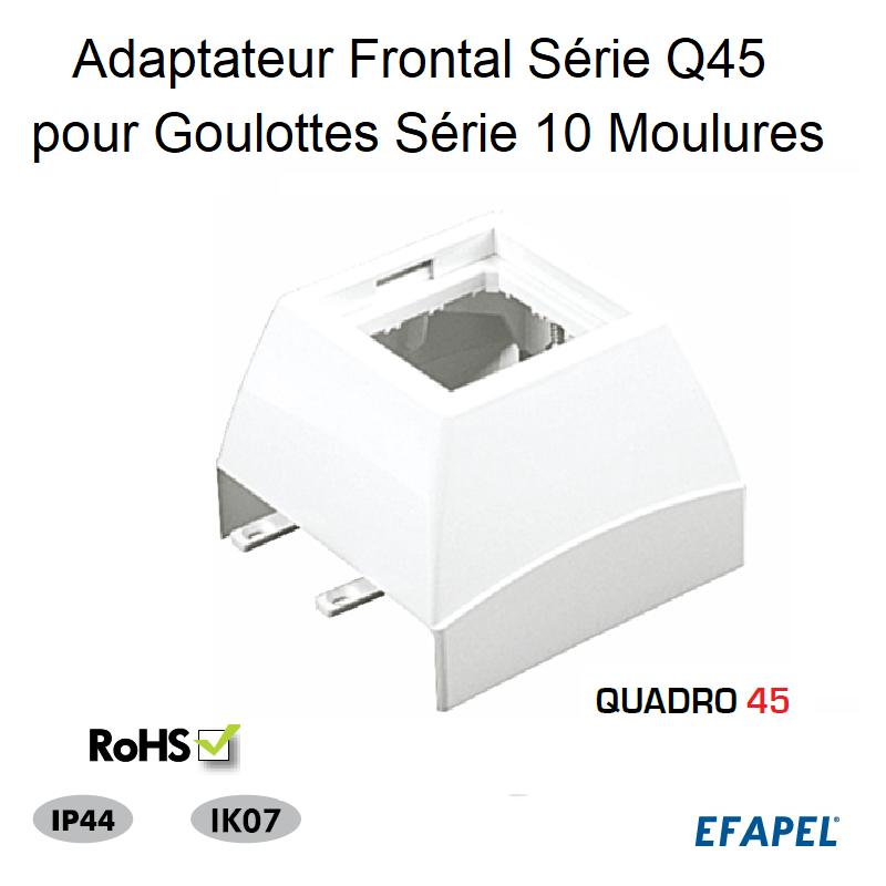 Adaptateur Frontal Série QUADRO 45 pour Goulotte