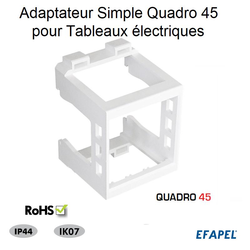 Adaptateur Simple Quadro 45 pour Tableaux électriques