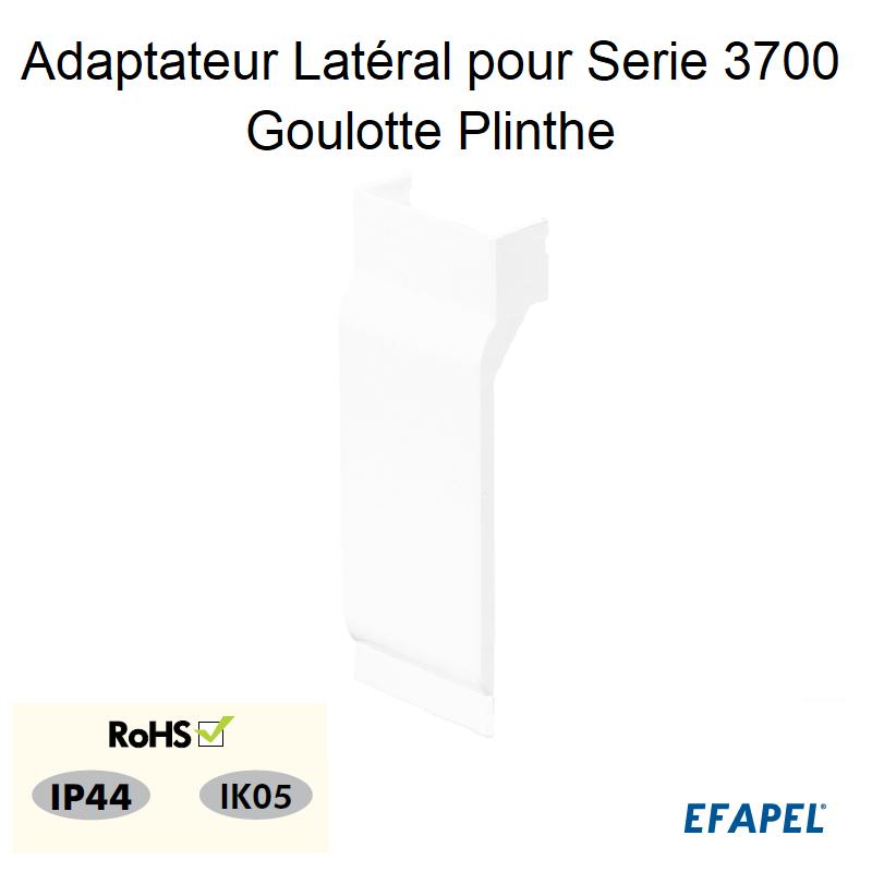 Adaptateur Latéral Série 3700 pour Goulotte Plinthe 110x20