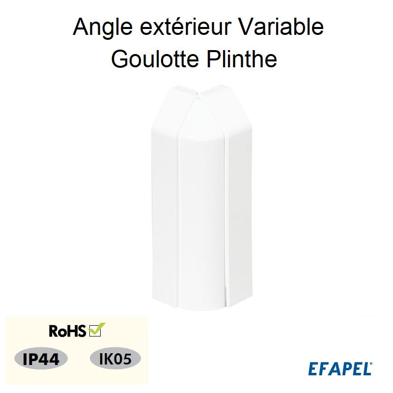 Angle Extérieur Variable pour Goulotte Plinthe 110x20