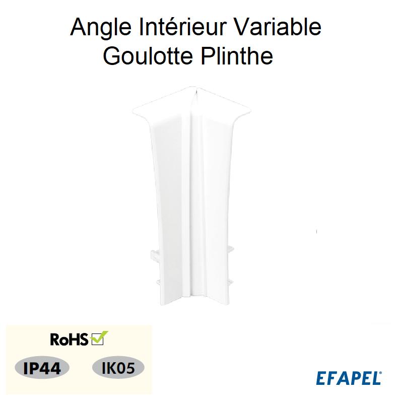 Angle Intérieur Variable pour Goulotte Plinthe 110x20