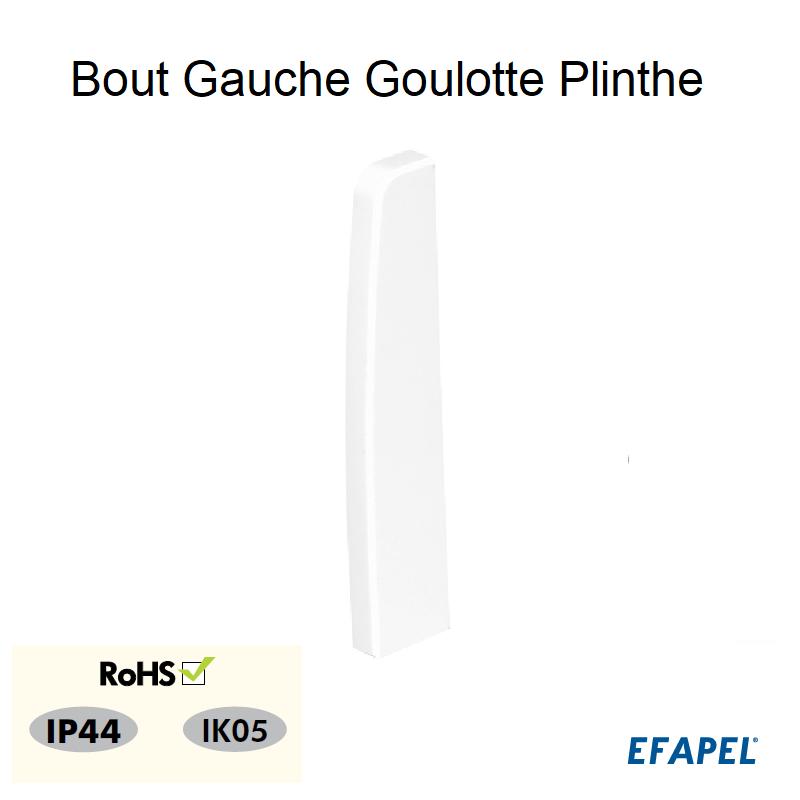 Bout Gauche pour Goulotte Plinthe 110x20