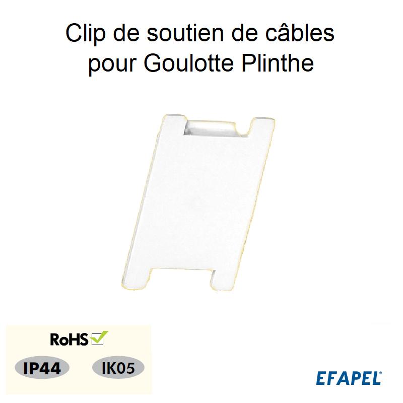 Clip de soutien de câbles pour Goulotte Plinthe 110x20