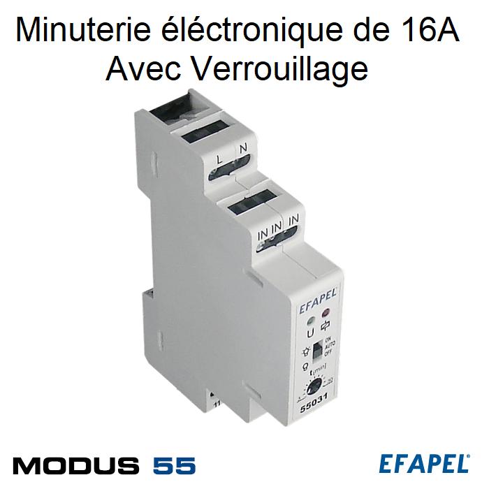 Minuterie électronique 16A avec verrouillage