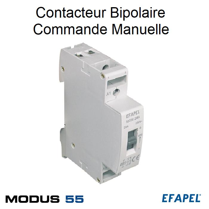 Contacteur Bipolaire Commande Manuelle 2NF