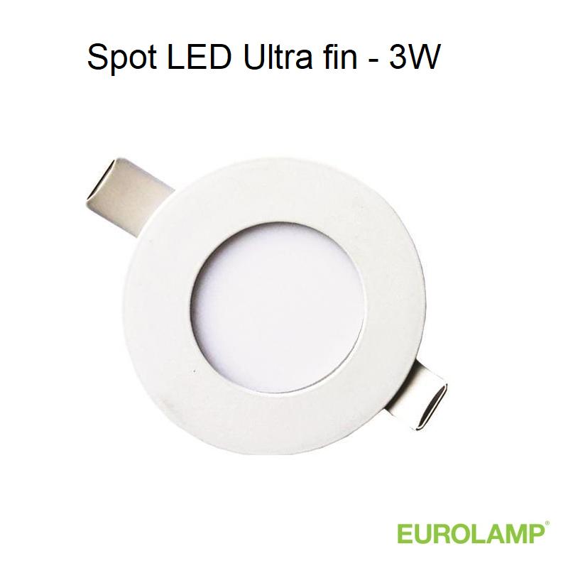 Spot LED rond encastrable Blanc 3W - 4000 kelvin