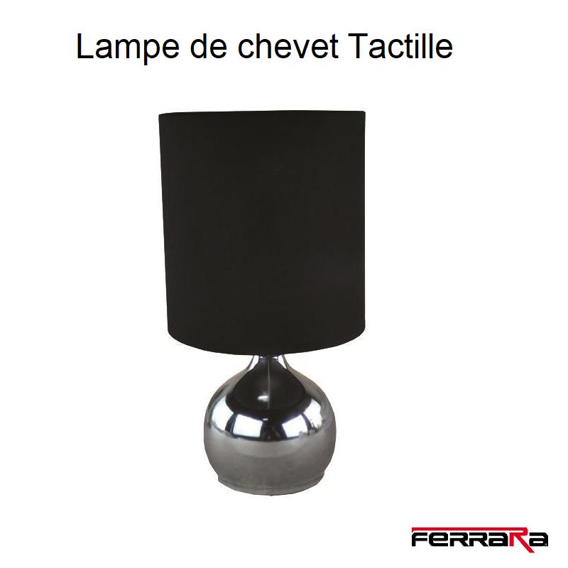 lampe de chevet tactille noire 153-53000