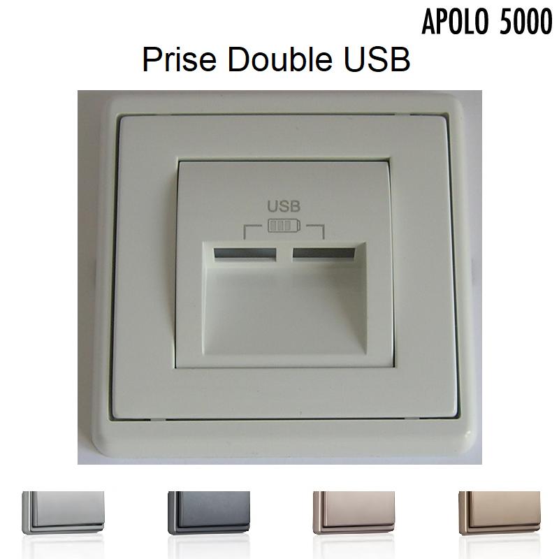 Chargeur Double USB - APOLO5000 Métal
