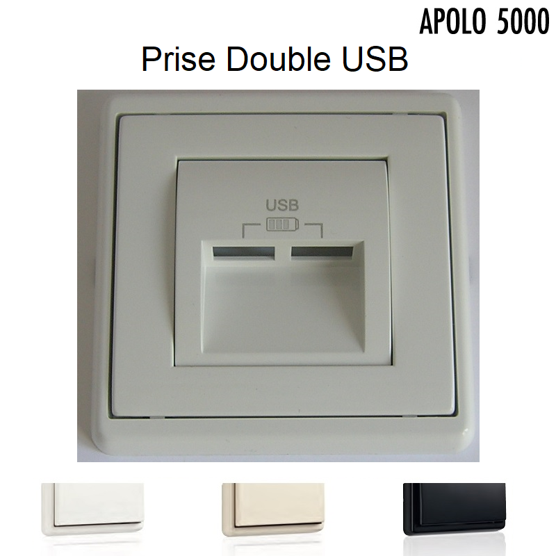 Chargeur Double USB - APOLO5000 Standard ou MAT