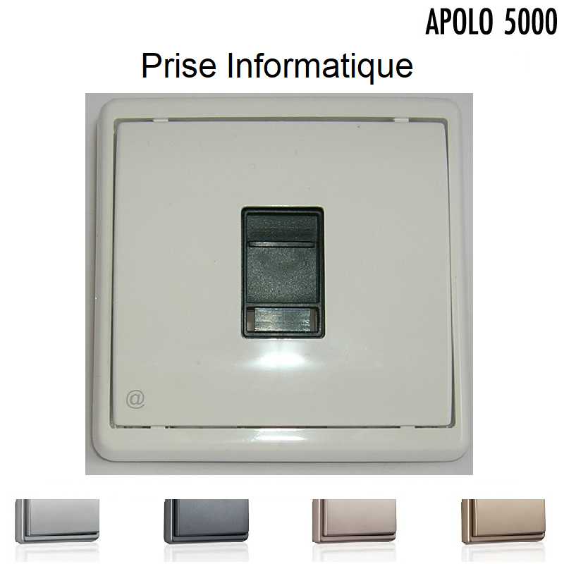 Prise Informatique RJ45 - APOLO5000 Métal