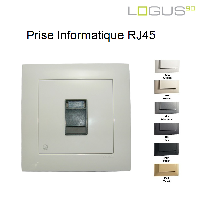 Prise Informatique RJ45 - Logus90 Aquarella