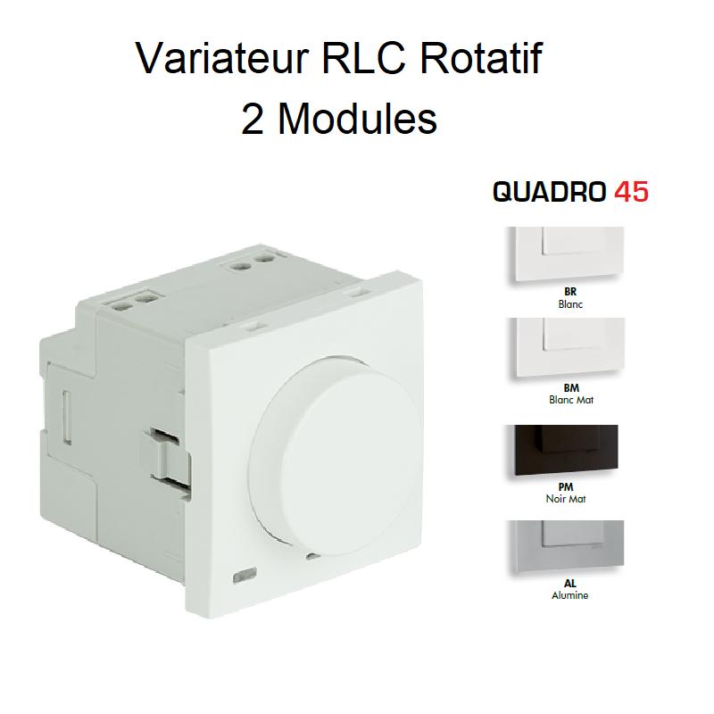 Variateur RLC Rotatif - 2 Modules Quadro 45