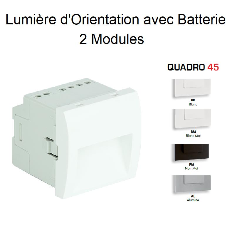 Lumière d\'Orientation avec Batterie - 2 Modules Quadro 45