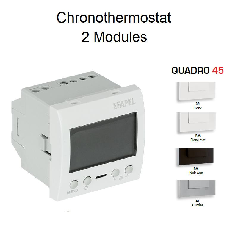 Chronothermostat Multifonctionnel 2 Modules - QUADRO 45